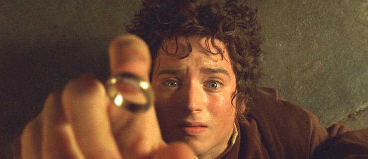 "Elijah Wood portrays Hobbit Frodo in a scene from the film ""The Lord of The Rings The Fellowship of The Ring"" in this undated publicity photograph. The film received four Golden Globe nominations, including Best Drama Motion Picture, in Beverly Hills, California December 20, 2001."