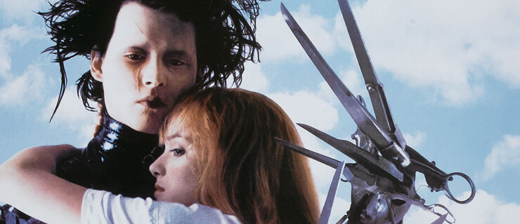 Poster for the film 'Edward Scissorhands' (directed by Tim Burton), 1990. (Photo by Buyenlarge/Getty Images)