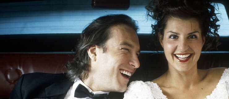 My Big Fat Greek Wedding (2002) Directed by Joel Zwick Shown: John Corbett (as Ian Miller), Nia Vardalos (as Toula Portokalos)